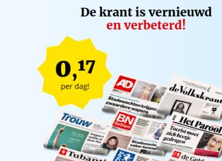 4 euro voor 4 weken een leuke krant