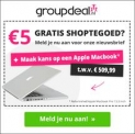 €5 GRATIS van Groupdeal bij aanmelding nieuwsbrief