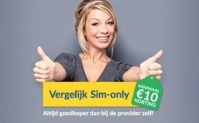 Altijd €10 cashback / korting op je sim only