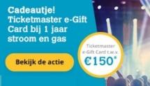 Gratis ticketmaster gift card t.w.v. €150 bij Oxxio