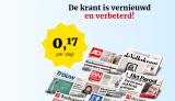 €4 voor 4 weken een krant (stopt automatisch)