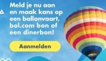 Win een ballonvaart of een Bol.com cadeaukaart
