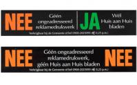 NEE-NEE of NEE-JA stickers aanvragen