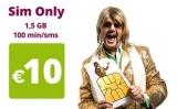 Youfone: 250 min + 2 GB voor €14!